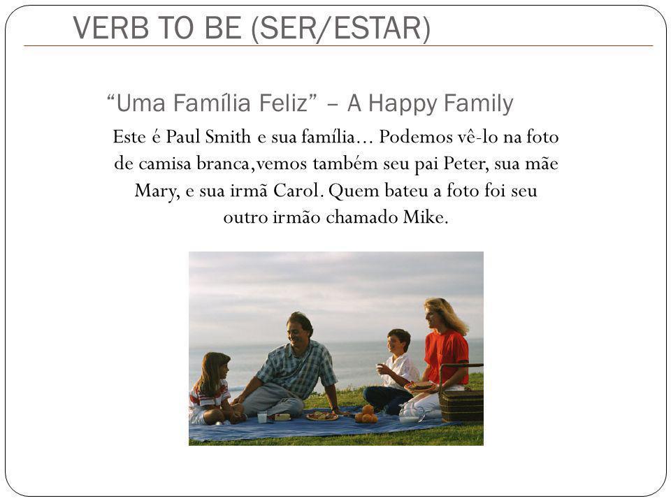 Este é Paul Smith e sua família... Podemos vê-lo na foto de camisa branca,vemos também seu pai Peter, sua mãe Mary, e sua irmã Carol. Quem bateu a fot