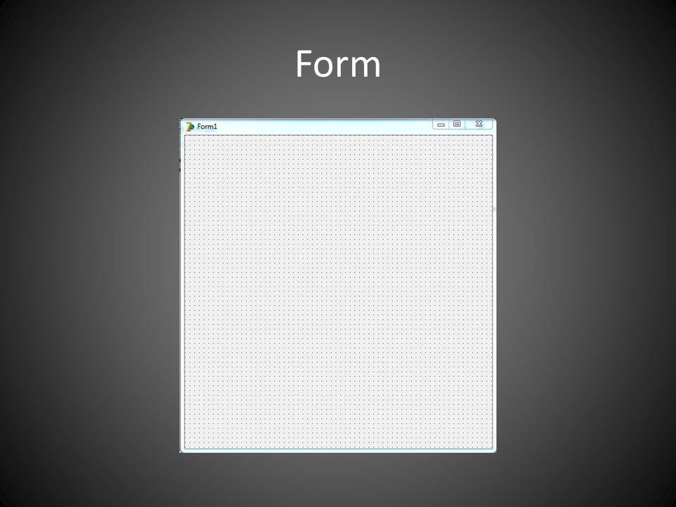 Form - Propriedades NomeTipo da propriedadeO que faça CaptionStringÉ o titulo do formulário ClientHeightIntegerInforma a altura do formulário ClientWidthIntegerInforma a largura do formulário NameStringO nome da variável VisibleBooleanInforma se o formulário esta ou não visível em determinado tempo de execução