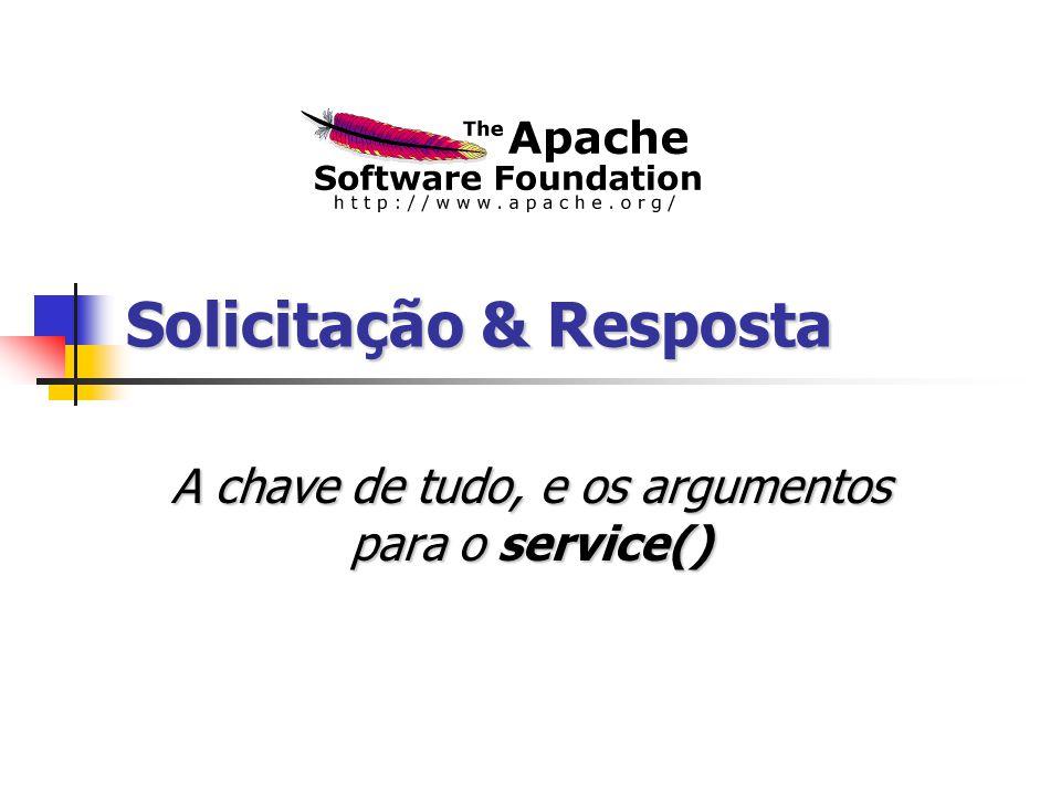 Solicitação & Resposta A chave de tudo, e os argumentos para o service()