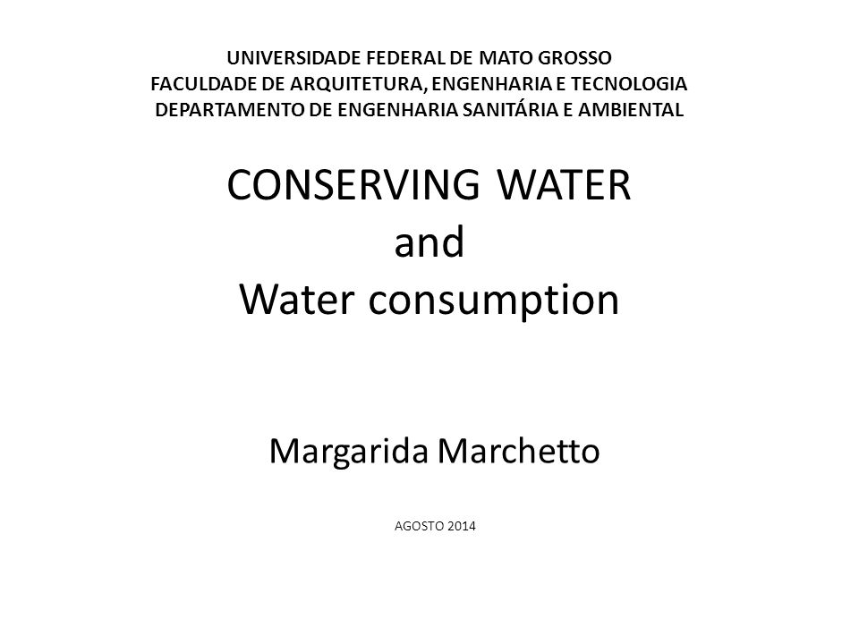 Fiori et al (2006), notes that the use of rainwater is an inexpensive way font substitution and even for drinking consumption if properly handled.