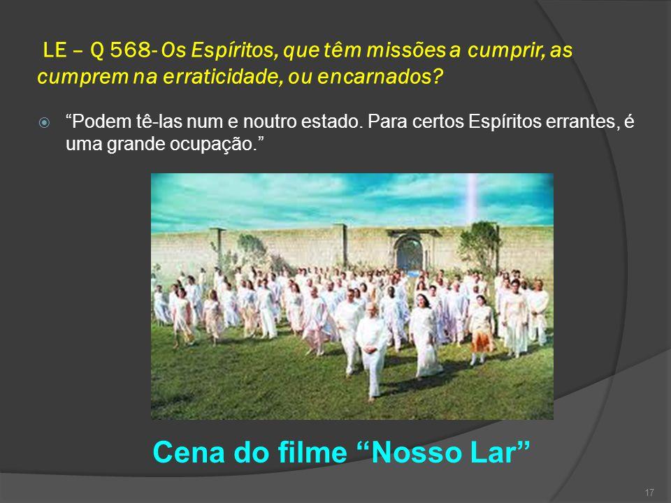 LE – Q 568- Os Espíritos, que têm missões a cumprir, as cumprem na erraticidade, ou encarnados.