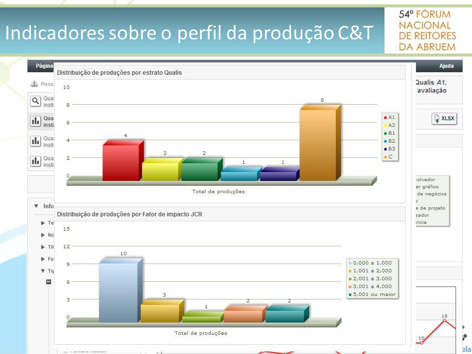 Indicadores sobre o perfil da produção C&T