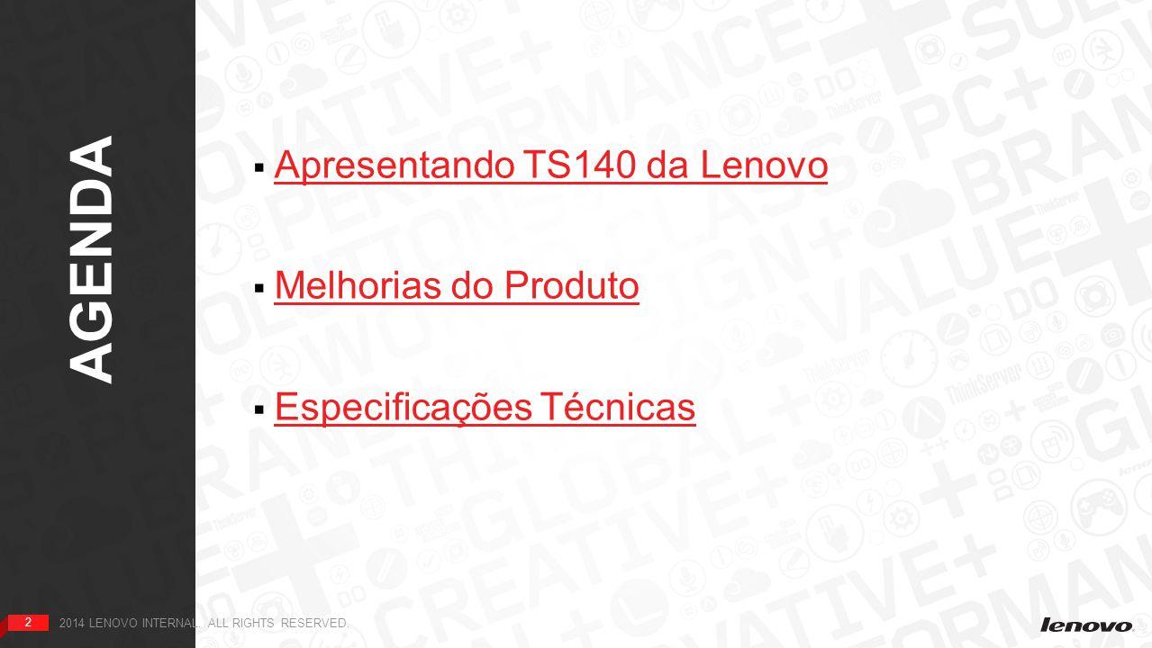 13 Visão Interna - Sob as Tampas 2013 LENOVO.ALL RIGHTS RESERVED.