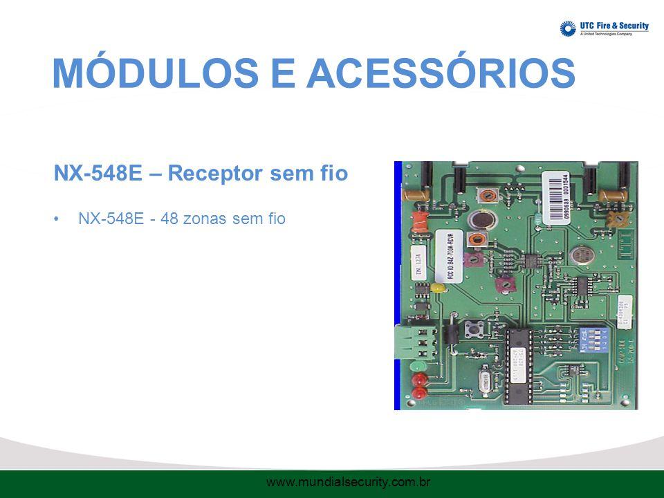 MÓDULOS E ACESSÓRIOS NX-548E – Receptor sem fio NX-548E - 48 zonas sem fio www.mundialsecurity.com.br