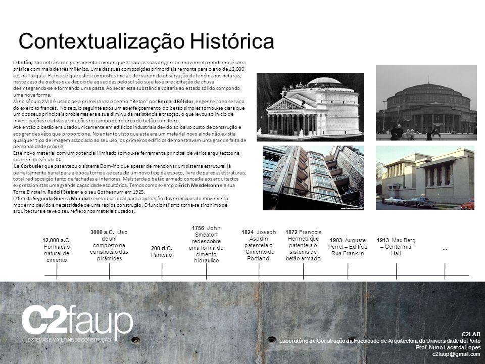 Contextualização Histórica C2LAB Laboratório de Construção da Faculdade de Arquitectura da Universidade do Porto Prof. Nuno Lacerda Lopes c2faup@gmail