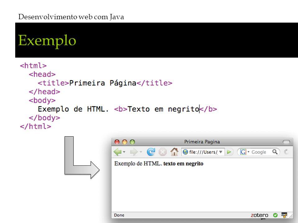 Exemplo Desenvolvimento web com Java # 13