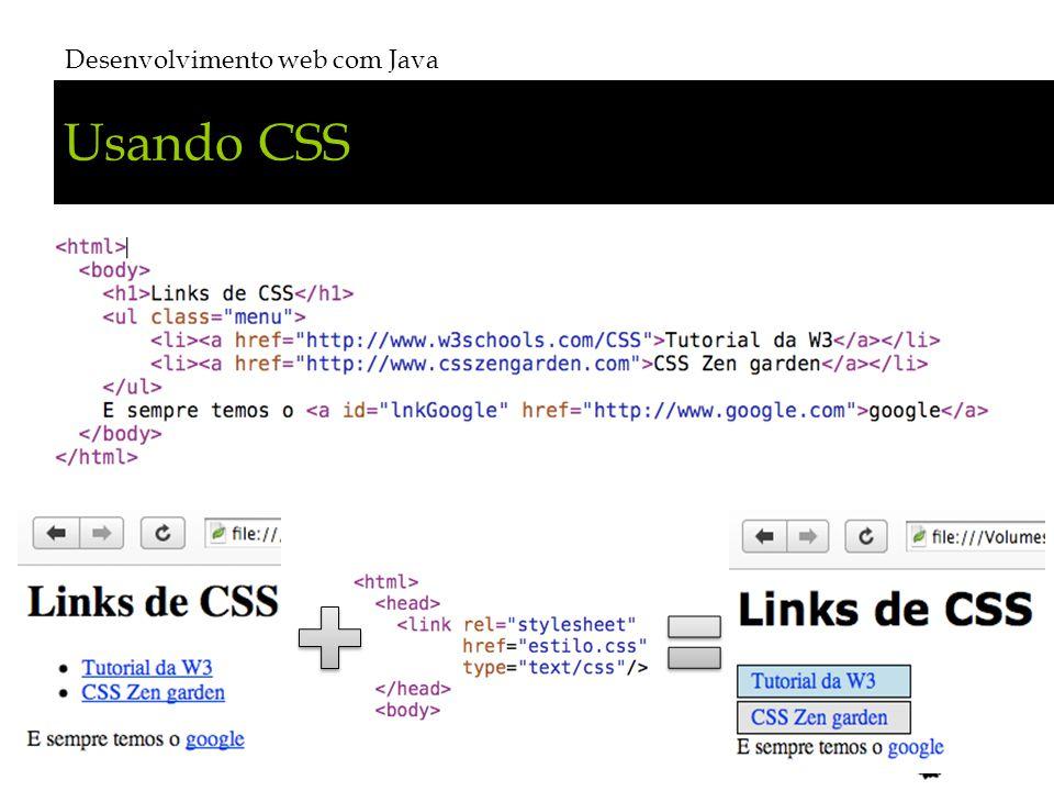 Usando CSS Desenvolvimento web com Java # 19