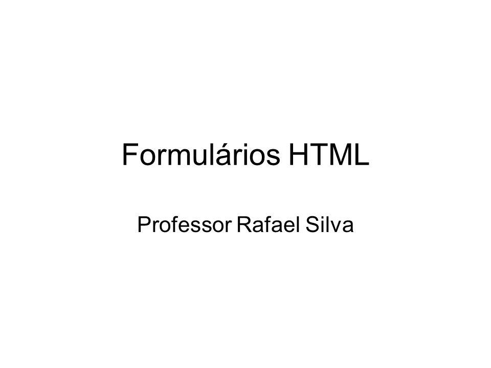 Formulários HTML Professor Rafael Silva