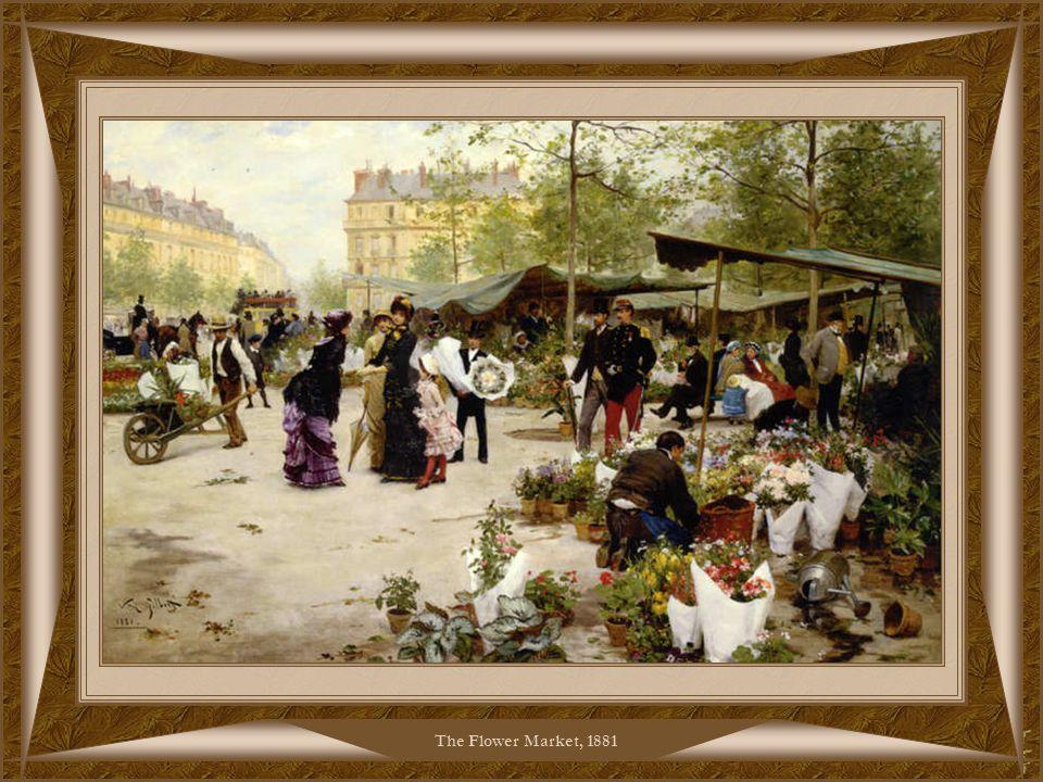 The Flower Market, 1880