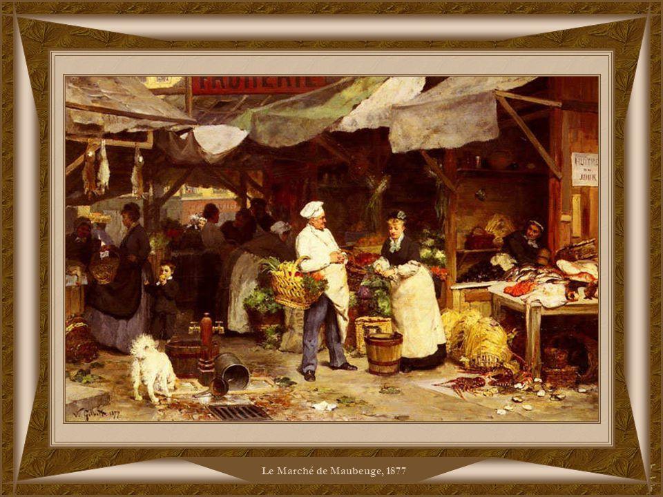 Le Marché de Maubeuge, 1877