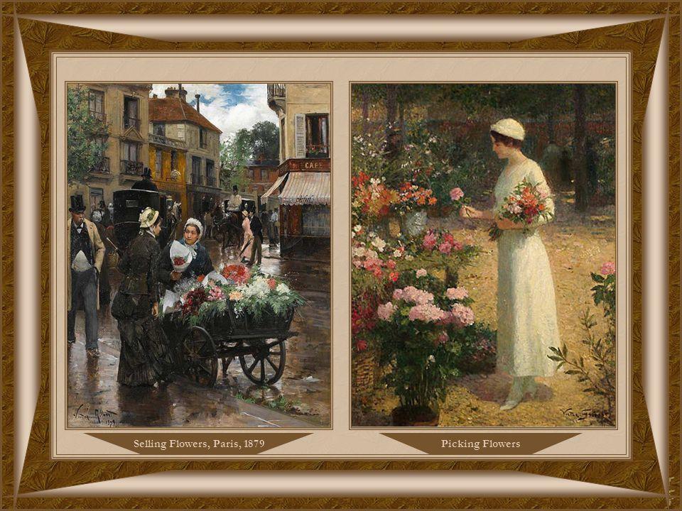 Selling VioletsParis, le Jardin du Luxembourg, 1885