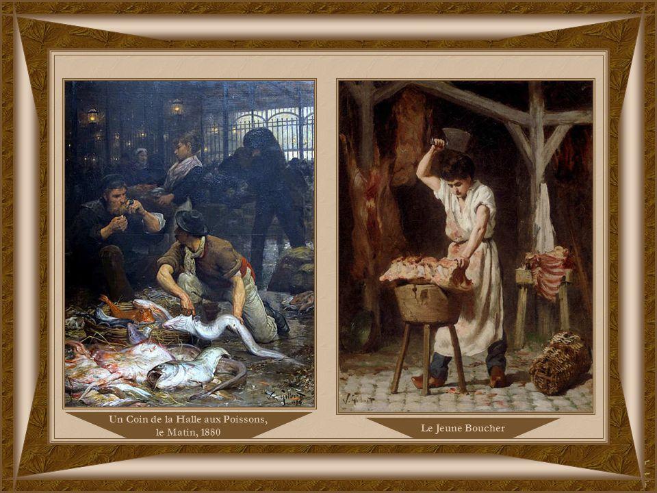 Le Jeune Boucher Un Coin de la Halle aux Poissons, le Matin, 1880