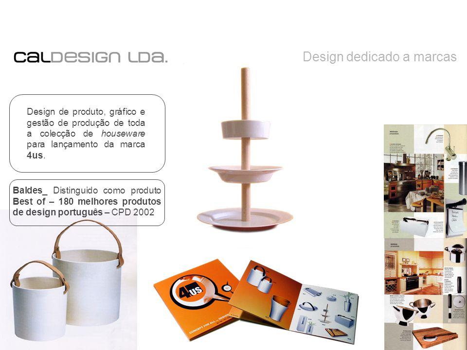 Design dedicado a marcas Design de produto, gráfico e gestão de produção de toda a colecção de houseware para lançamento da marca 4us.