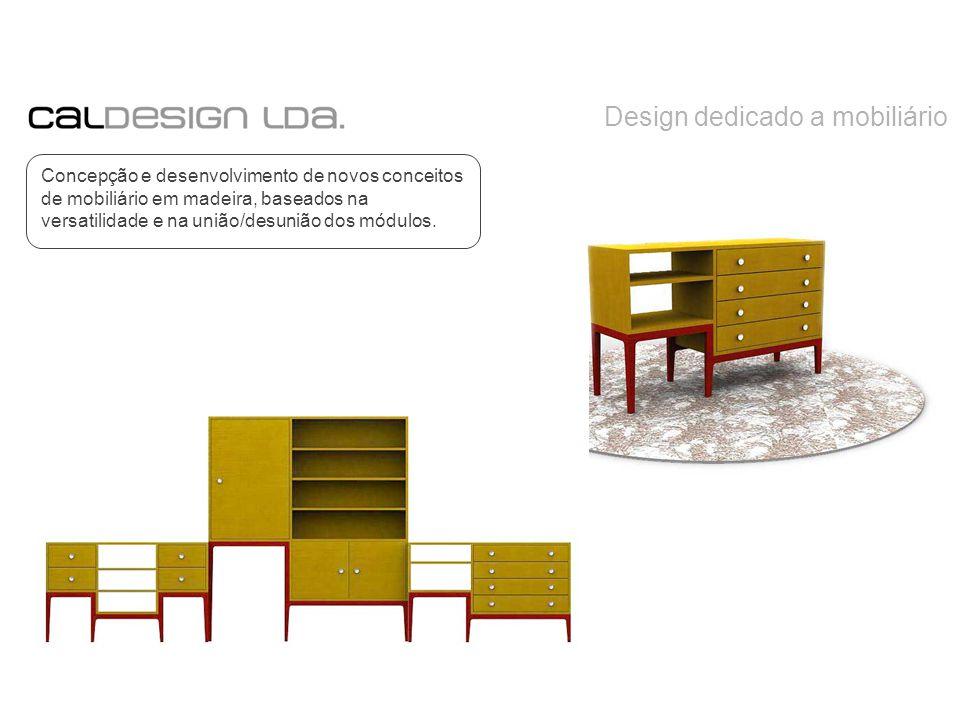 Design dedicado a mobiliário Concepção e desenvolvimento de novos conceitos de mobiliário em madeira, baseados na versatilidade e na união/desunião dos módulos.