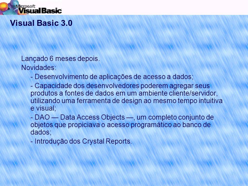 Visual Basic 3.0 Lançado 6 meses depois.