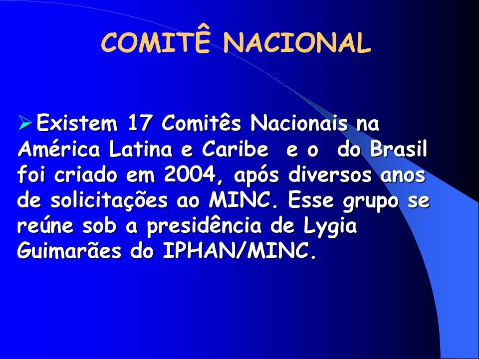  Existem 17 Comitês Nacionais na América Latina e Caribe e o do Brasil foi criado em 2004, após diversos anos de solicitações ao MINC. Esse grupo se