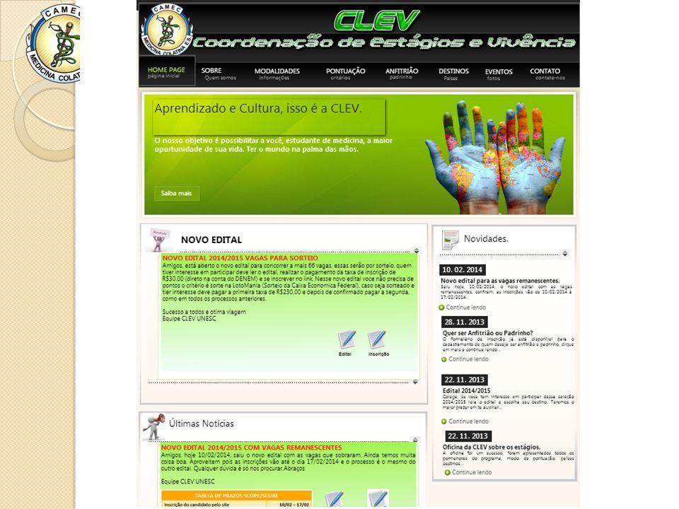 Visitem nosso site www.clevunesc.xpg.com.br Obrigado!