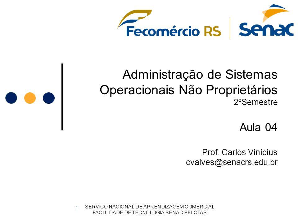 Administração de Sistemas Operacionais Não Proprietários 2ºSemestre Aula 04 Prof.