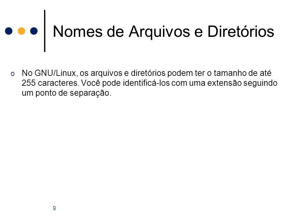 o Partições: São divisões existentes no disco rígido que marcam onde começa onde termina um sistema de arquivos.