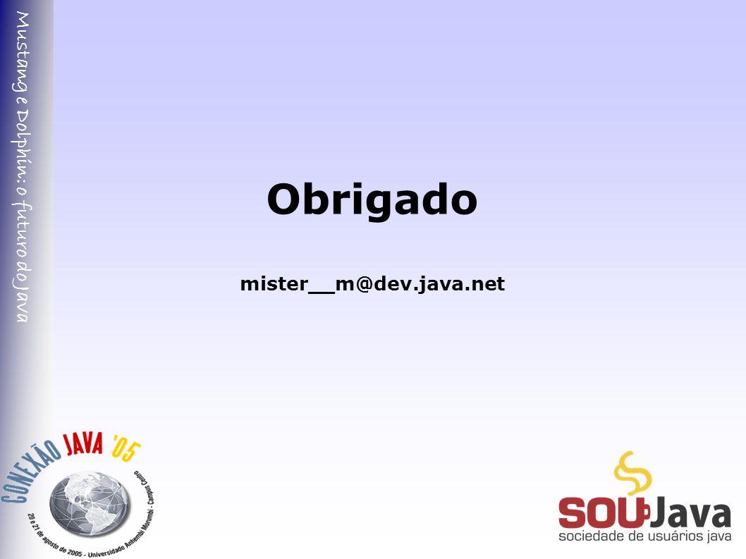 Mustang e Dolphin: o futuro do Java Obrigado mister__m@dev.java.net