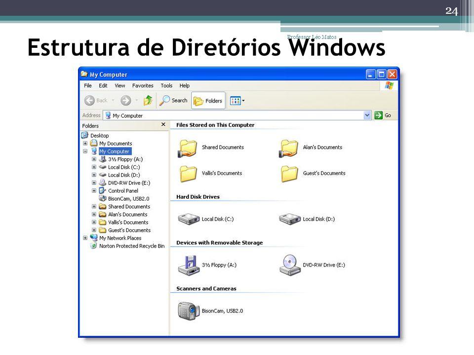 Estrutura de Diretórios Windows 24 Professor Léo Matos