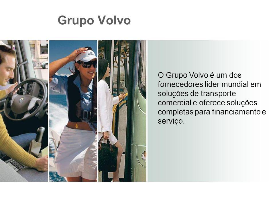 O Grupo Volvo é um dos fornecedores líder mundial em soluções de transporte comercial e oferece soluções completas para financiamento e serviço. Grupo