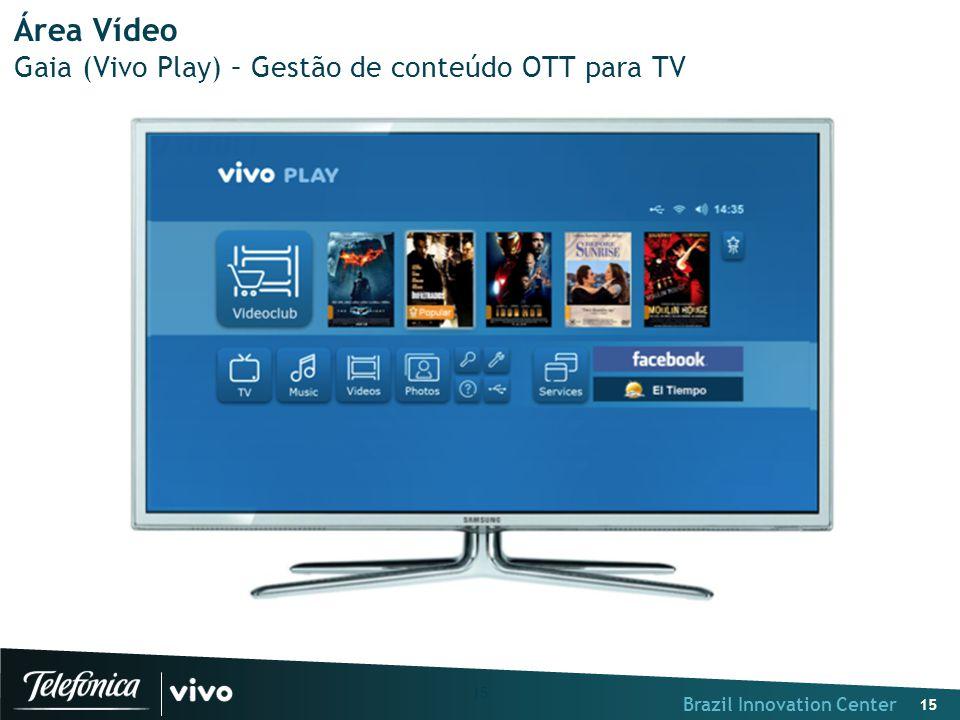 Brazil Innovation Center 15 Área Vídeo Gaia (Vivo Play) – Gestão de conteúdo OTT para TV