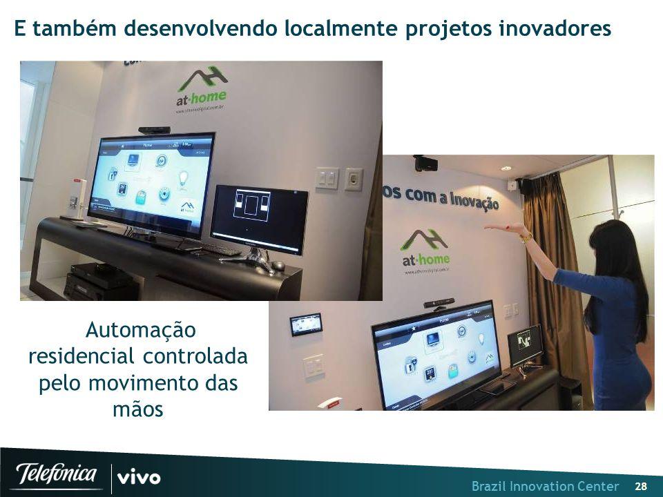 Brazil Innovation Center 28 E também desenvolvendo localmente projetos inovadores Automação residencial controlada pelo movimento das mãos