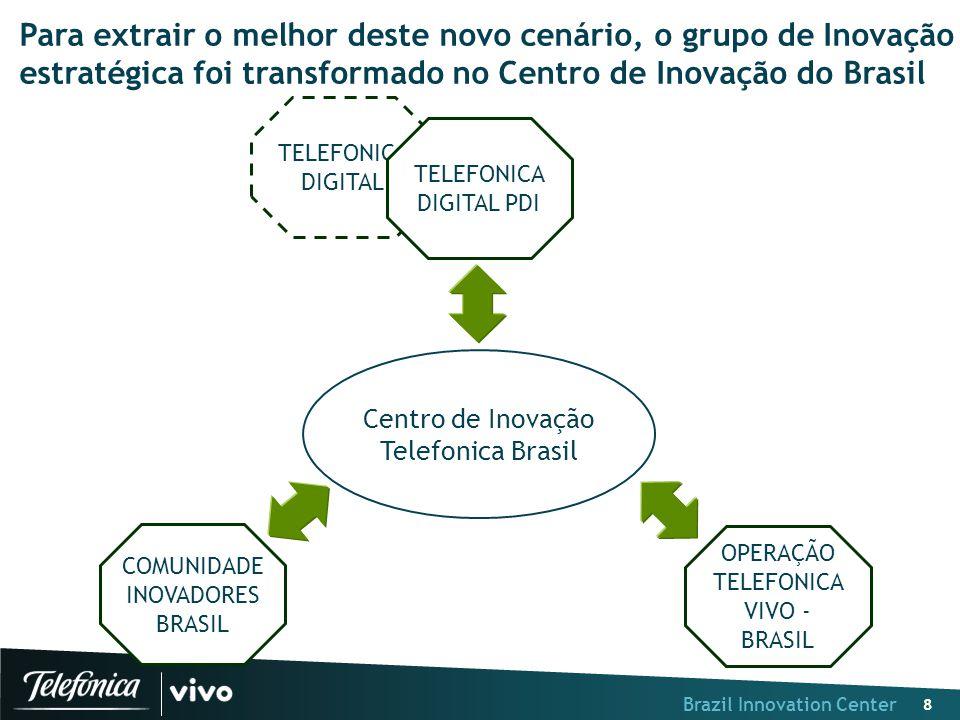 Brazil Innovation Center 8 Para extrair o melhor deste novo cenário, o grupo de Inovação estratégica foi transformado no Centro de Inovação do Brasil