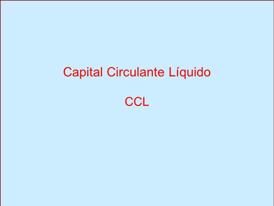 Capital Circulante Líquido CCL