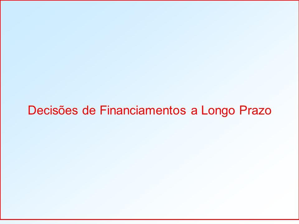 Decisões de Financiamentos a Longo Prazo