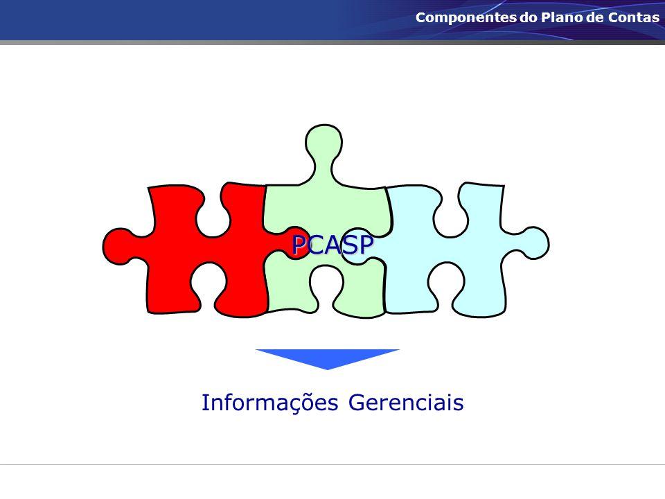 Informações Gerenciais PCASP Componentes do Plano de Contas