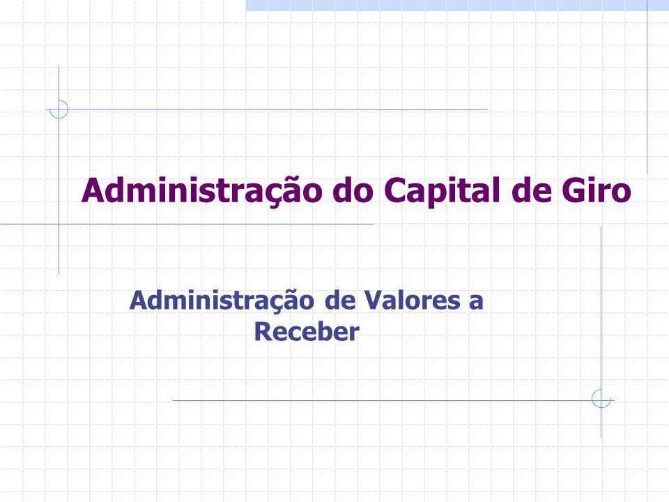 Administração do Capital de Giro Administração de Valores a Receber