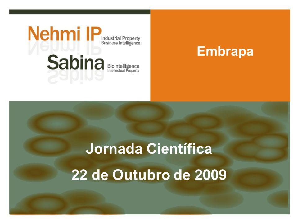 Jornada Científica 22 de Outubro de 2009 Embrapa