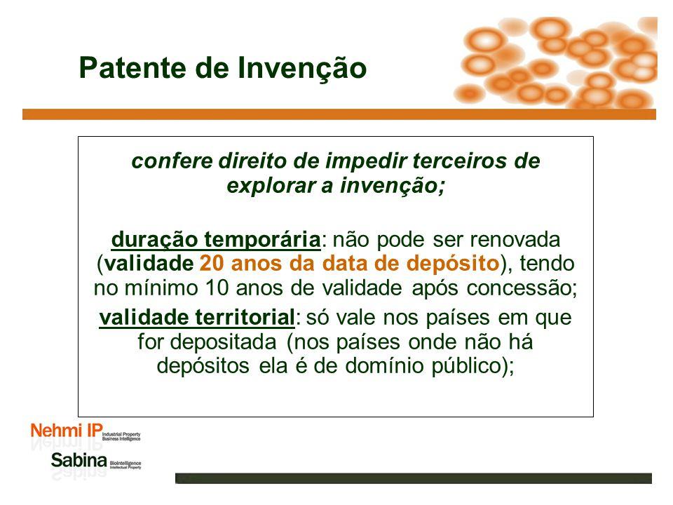 Titular(es) e inventor(es) Titulares ou depositantes: Proprietários da patente, podem ser PF ou PJ.