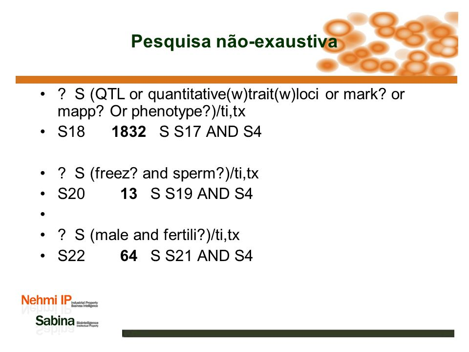Pesquisa não-exaustiva ? S probiotic? ? S12 98 S S11 AND S4 ? S breed? S14 827 S S13 AND S4 ? S (growth? and promoter?)/ti,tx S16 263 S S15 AND S4