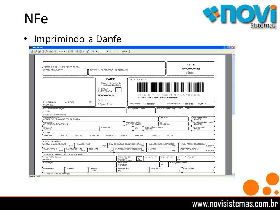 NFe Imprimindo a Danfe