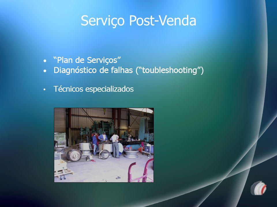 Plan de Serviços Diagnóstico de falhas ( toubleshooting ) Técnicos especializados Serviço Post-Venda
