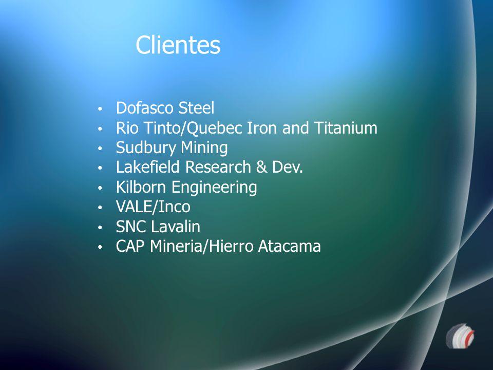 Dofasco Steel Rio Tinto/Quebec Iron and Titanium Sudbury Mining Lakefield Research & Dev. Kilborn Engineering VALE/Inco SNC Lavalin CAP Mineria/Hierro