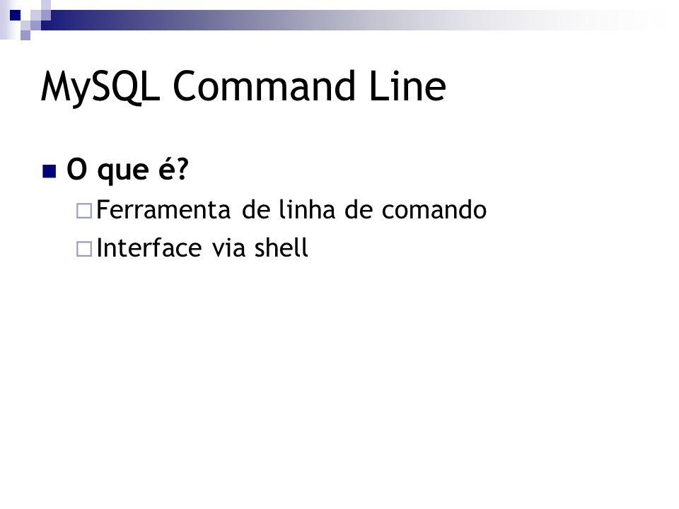 O que é?  Ferramenta de linha de comando  Interface via shell