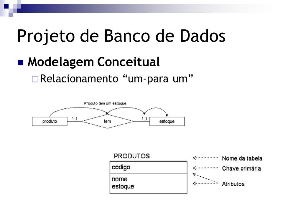 """Projeto de Banco de Dados Modelagem Conceitual  Relacionamento """"um-para um"""""""