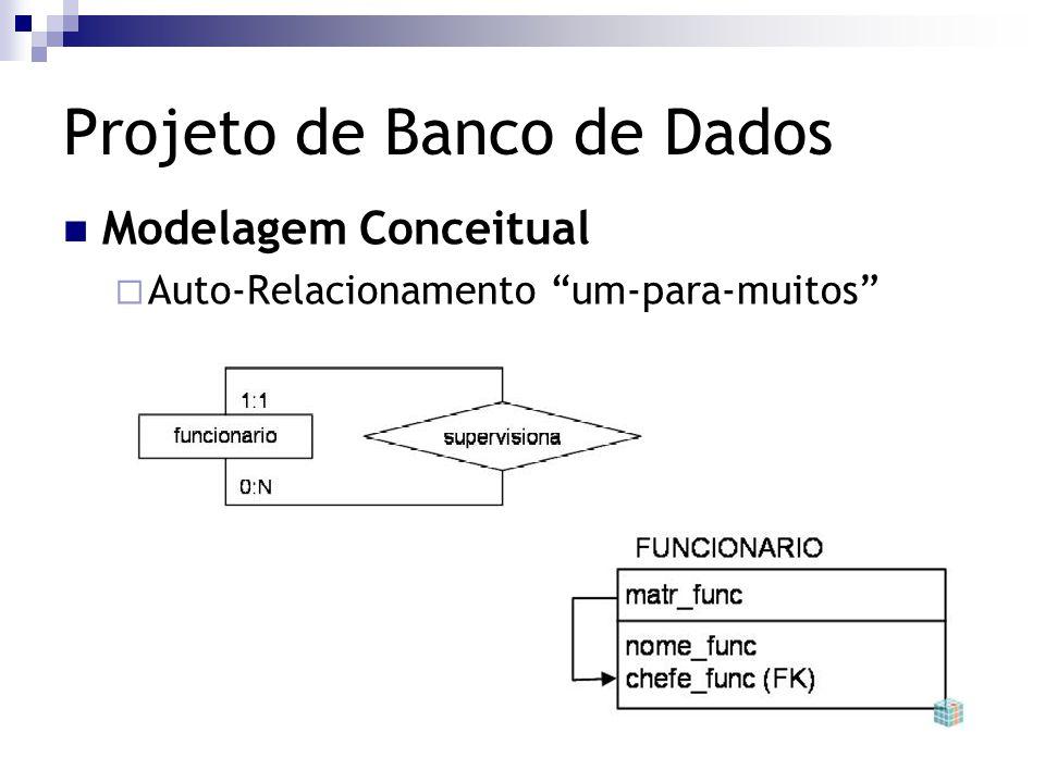 """Projeto de Banco de Dados Modelagem Conceitual  Auto-Relacionamento """"um-para-muitos"""""""
