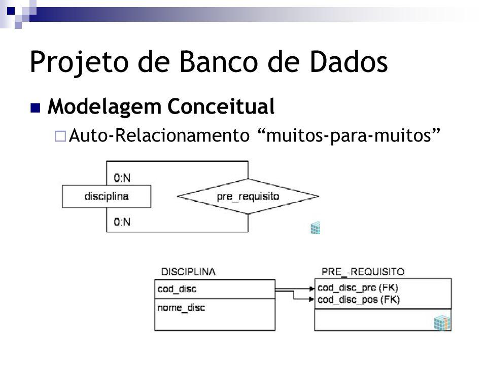"""Projeto de Banco de Dados Modelagem Conceitual  Auto-Relacionamento """"muitos-para-muitos"""""""