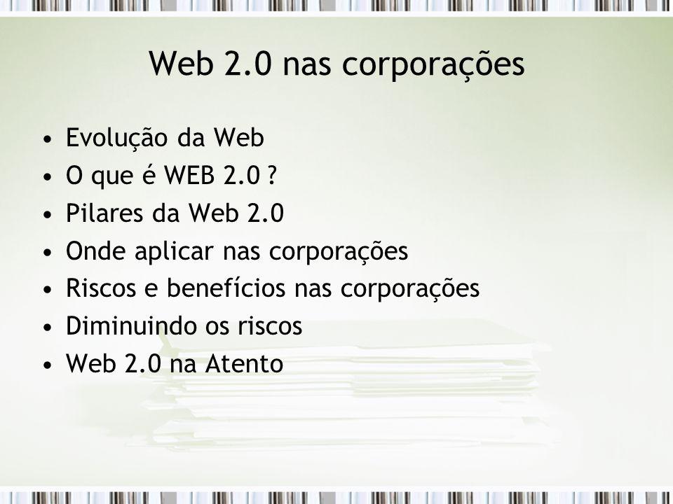 Evolução da Web O que é WEB 2.0 .