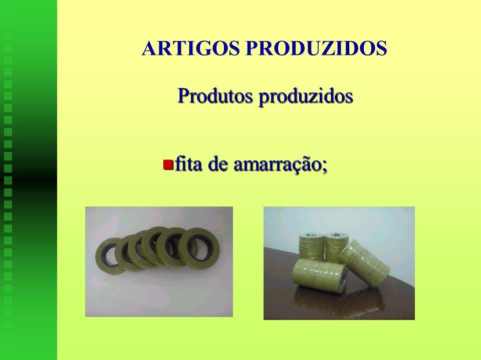 ARTIGOS PRODUZIDOS Produtos produzidos fita de amarração; fita de amarração;