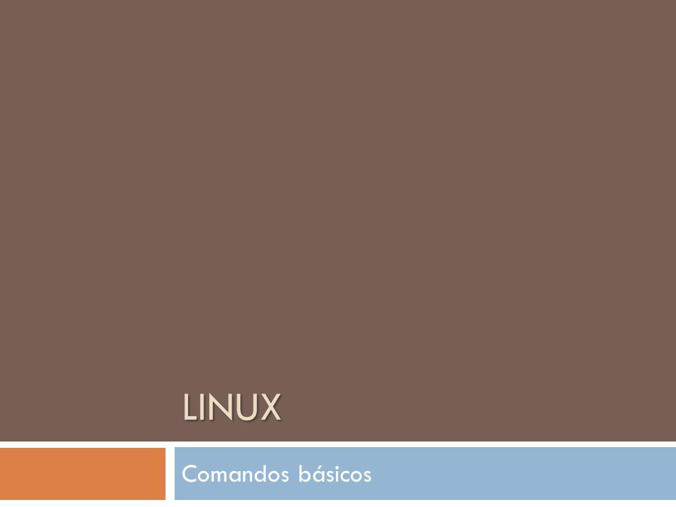LINUX Comandos básicos