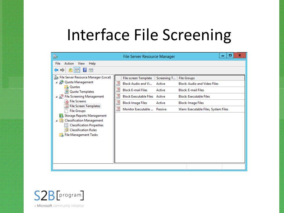 Interface File Screening