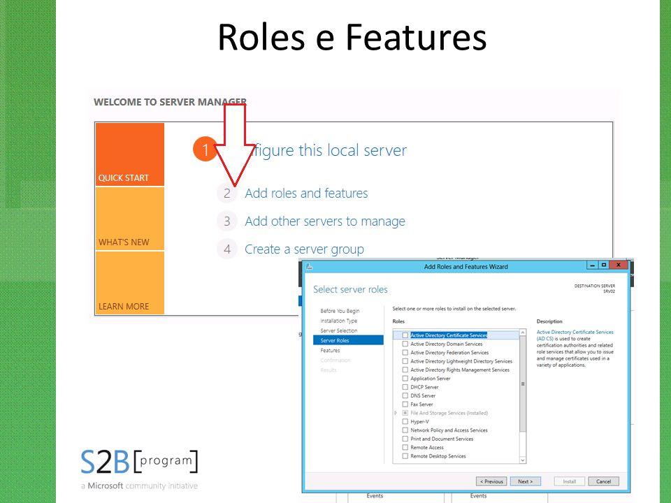 Roles e Features