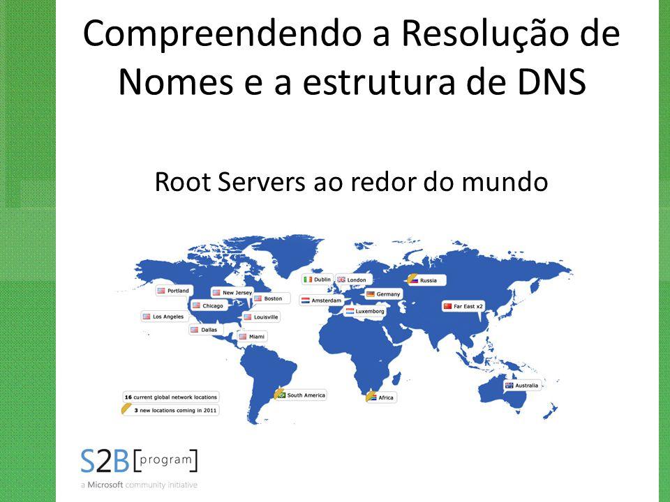 Compreendendo a Resolução de Nomes e a estrutura de DNS Root Servers ao redor do mundo