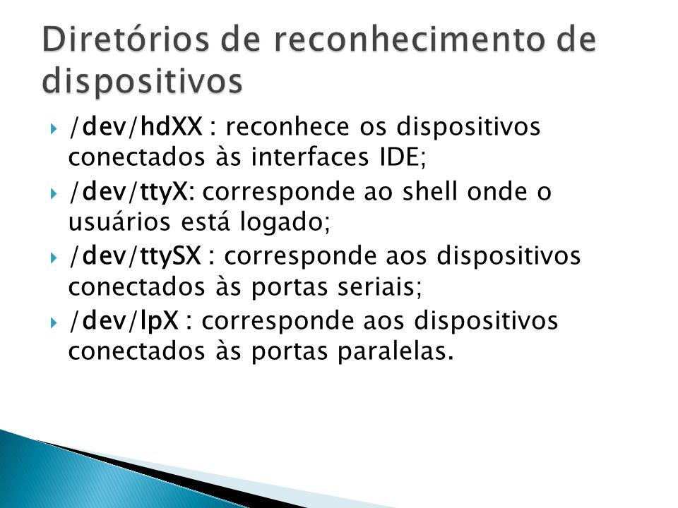  arch : exibe qual a arquitetura do processador utilizado pelo sistema;  lspci : lista dispositivos conectados ao micro via barramento PCI;  lsusb : lista dispositivos usb conectados ao micro;